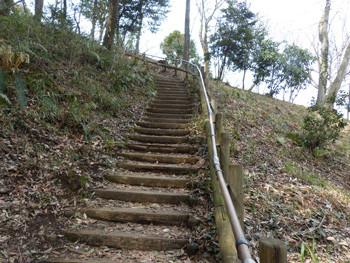 横浜・四季の森公園の谷戸コースの階段