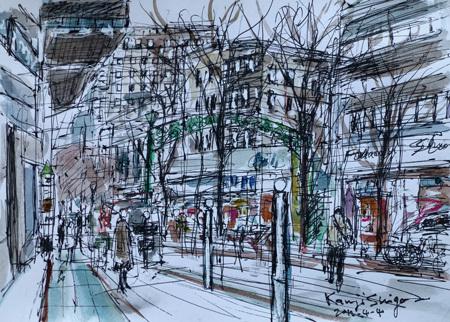 横浜市・馬車道の商店街