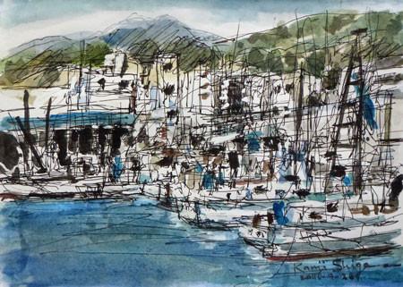 神奈川県・小田原漁港の漁船