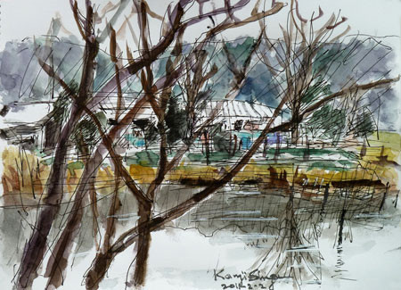 横浜市・舞岡公園の「小谷戸の里」遠景