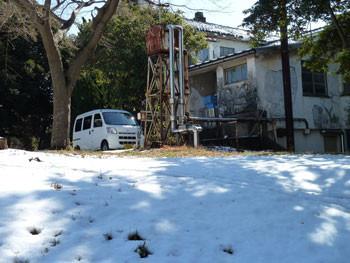 藤沢市・雪の日のグリーンハウス