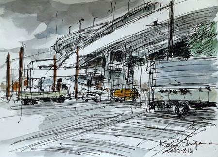 横浜・山下橋交差点付近の高速道路