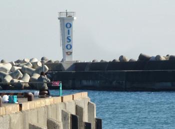神奈川県・大磯港の灯台