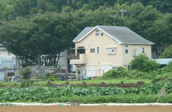 神奈川県藤沢市・引地川親水公園近くの黄色い民家