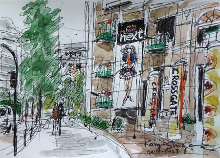 横浜市・クロスゲートビルのnextの看板
