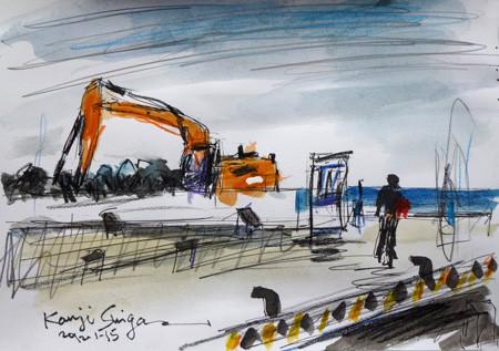 神奈川県・工事中の大磯港