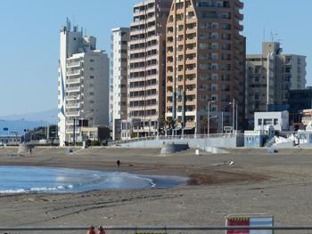 藤沢・冬の片瀬海岸東浜海水浴場
