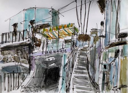 神奈川県・真鶴町の横捲横断地下道