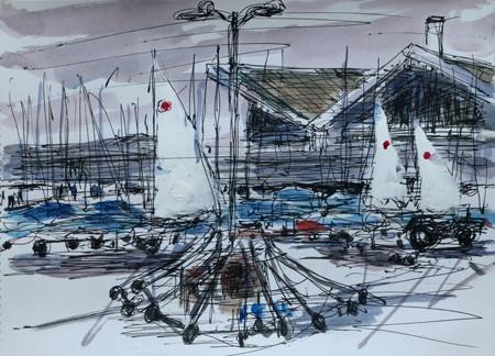 藤沢市・江ノ島ヨットハーバーのディンギーヨット