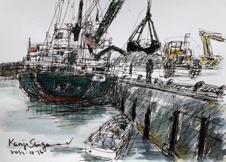 神奈川県・大磯港のガット船「瑛徳丸」