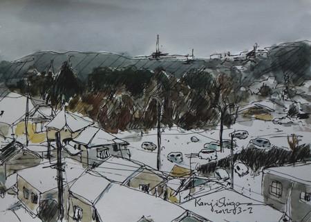 藤沢市・立石の雪景色