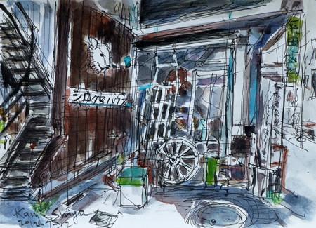 アンティーク店のシロクマハウス