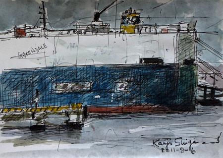 横浜・横浜ノースドックの自動車運搬船「GREEN DALE」