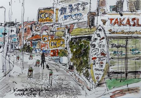 鎌倉・腰越漁港付近の街角