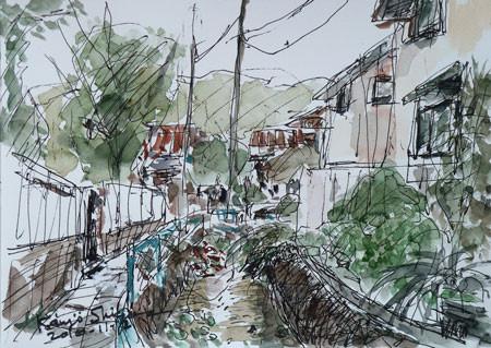 鎌倉・小町の小川と裏通り