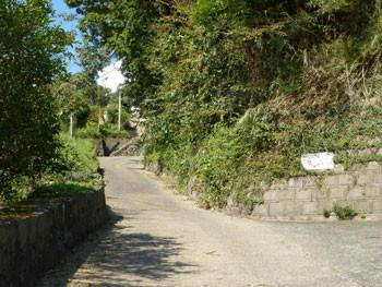 小田原市早川・山の上の白い家