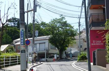 横浜・石川町の大丸谷坂の家々