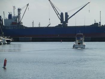 横浜・貨物船WORLD STAR