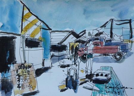 茅ヶ崎市・サザンビーチの海の家