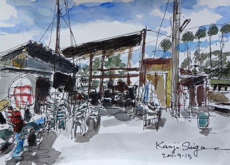 熱海・熱海港の小屋