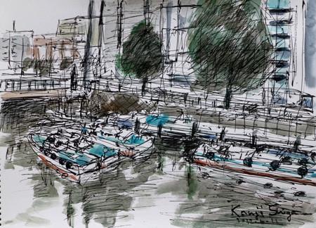 横浜市・川端通りのタグボート