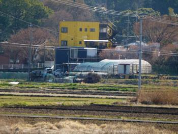藤沢市・引地川親水公園近くの黄色いビル