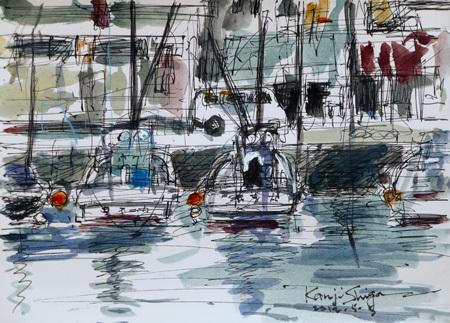 神奈川県・真鶴港の漁船