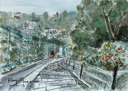 横浜・高田坂の下り階段