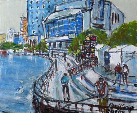 横浜・臨港パークの岸壁