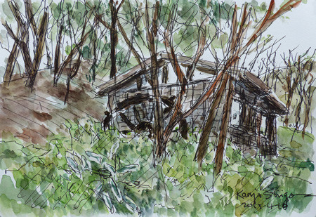 横浜・四季の森公園の水車小屋