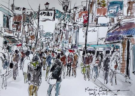 鎌倉市・小町通りの賑わい