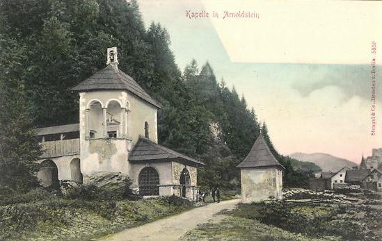 Alte Ansichtskarte, Arnoldstein Kapelle um 1910