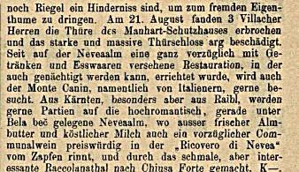 Schon im Jahre 1892 bestiegen mehr als 100 Touristen den Mangart