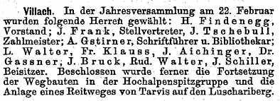 Mittheilungen des DOAV im Jahre 1894