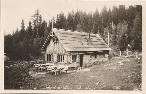 Die alte Otto-Hütte am Dobratsch ca 1910-1920
