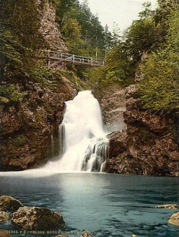Der Rotweinklamm Wasserfall im Jahre 1895