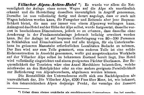 Bericht im Jahrbuch des Österreichischen Alpenvereines 1869