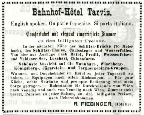 Announce aus dem Jahr 1885