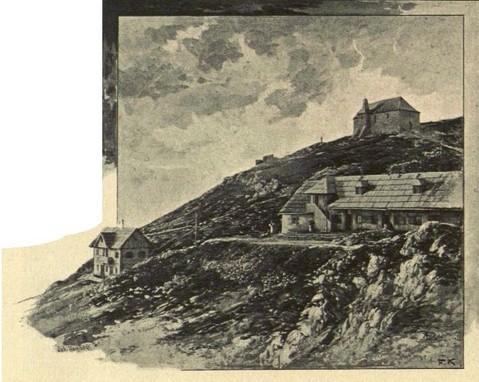 Dobratsch Rudolfshaus und Gipfelhaus 1897