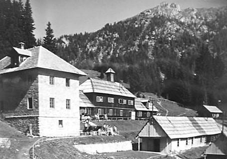 Der ehemalige Bergwerksort Villaggio Cocco in den 1950er Jahren