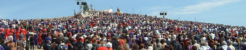 Bendición del Viernes Santo en el Calvario. Fuente: www.infotobarra.com