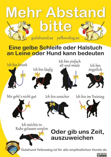 Bedeutung  gelbe Schleife / Hund