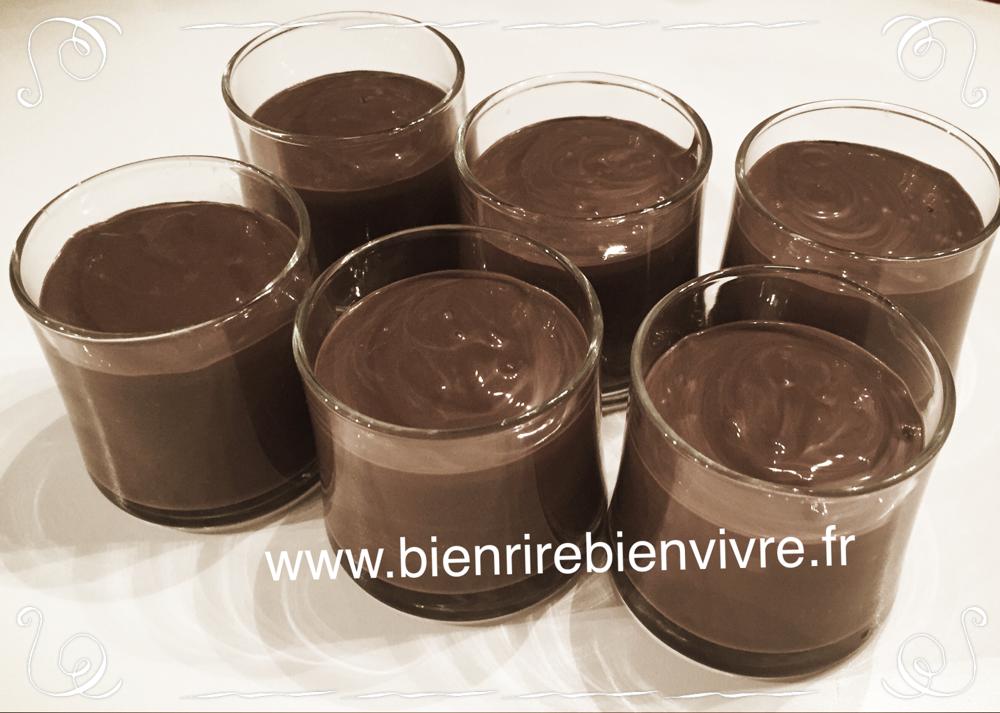 Mousse au chocolat sans gluten, sans lactose, sans œuf