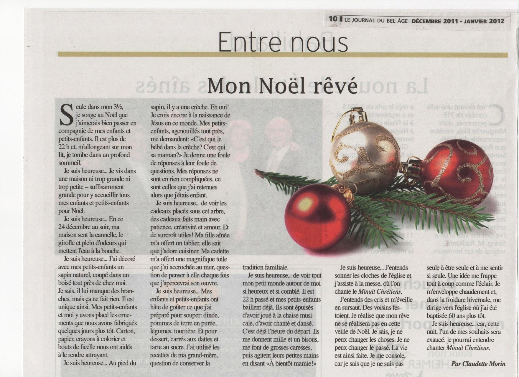 Mon Noël rêvé, TC Média, Le Bel Âge 2010