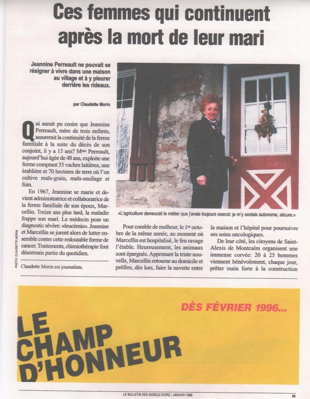 Article publié dans le Bulletin des Agriculteurs - éditeur Marc-Alain Soucy
