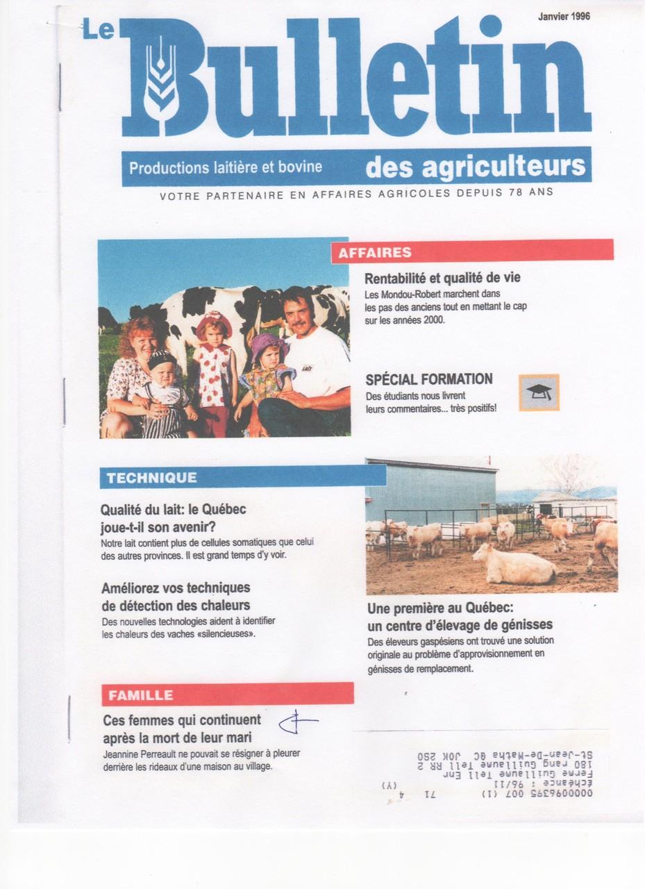 Pigiste pour Le Bulletin des Agriculteurs (dans le cadre de cours, École de Rédaction)