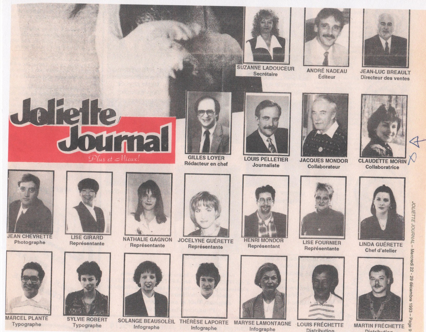 Collaboratrice au Joliette Journal - éditeur André Nadeau