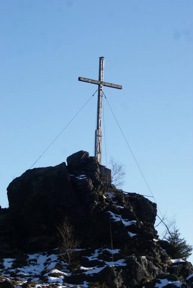 Gipfelkreuz Silberberg 955m ü NN