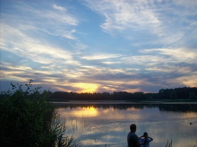 Sonnenuntergang an den Daubitzer Teichen