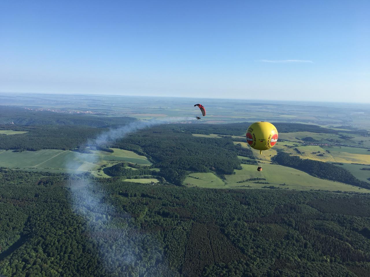 Die Ballone umfliegen